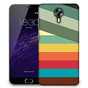Snoogg Slant Multi Color Designer Protective Phone Back Case Cover For Meizu M2