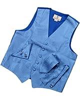 YGA1D01 Mens Polka Dots Vest Tie Cufflinks Hanky Bowtie Fashion Gift By Y&G