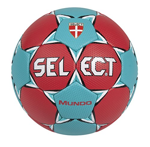 Select Mundo - Palla da pallamano, Rosso (Rot/Türkis), 2