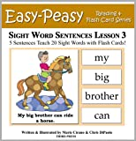 Sight Word Sentences Lesson 3: 5 Sentences Teach 20 Sight Words with Flash Cards (Learn to Read Sight Words)