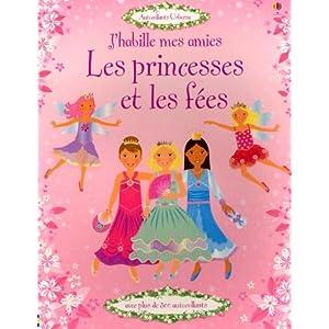 J'Habille Mes Amies les Princesses et les Fees - Autocollants Usborne