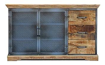 Sideboard 146x88cm 'Detroit' Mango natur Metall