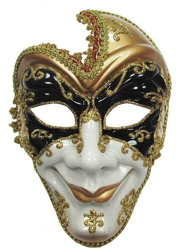 Full Face Male Venetian Masked Ball Mardi Gras Mask