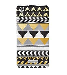 Zig Zag Pattern Design 3D Hard Polycarbonate Designer Back Case Cover for Lava Iris Pixel V1