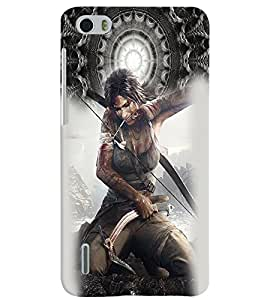 PrintVisa Fighter Hot & Sexy Girl 3D Hard Polycarbonate Designer Back Case Cover for Huawei Honor 6