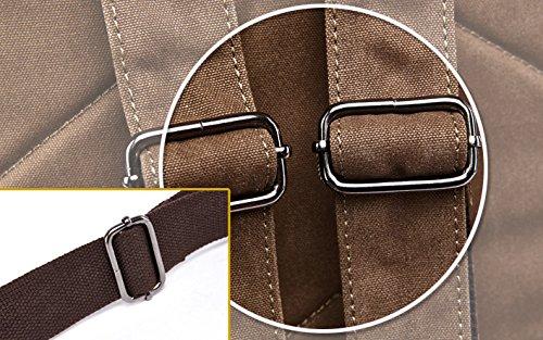 Kenox Vintage High School Canvas Backpack School Bag Travel Bag Laptop Bag 5
