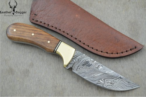 Huge Sale By Leather-N-Dagger | Professional High Quality Custom Handmade Damascus Steel Skinner Hunting Knife (100% Satisfaction Guaranteed) Ld116