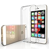 Yousave Accessories iPhone SE / 5S / 5 Case 0.5mm Ultra Slim Crystal Clear Shield [Precision Fit] TPU Gel Cover