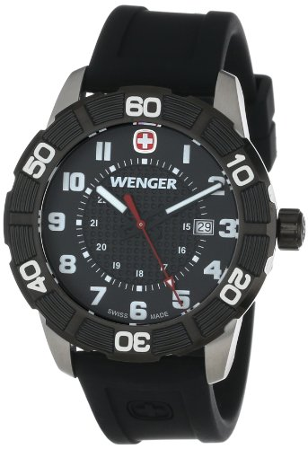 Wenger-Roadster-Black-Stainless-Steel-Watch-with-Silicone-Strap
