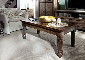 madera maciza Muebles Vintage laqueado Mesita baja 110x60 Viejo roble macizo Muebles multicolor De madera maciza Rapunzel #06