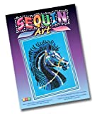 KSG Arts and Crafts Sequin Art and Beads 1004 Black Horse Picture Kit