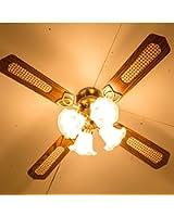 美感デザイン 照明シーリングファン 【ブライト】 6~12畳 LED対応 リモコン付 羽リバーシブル ブラウン