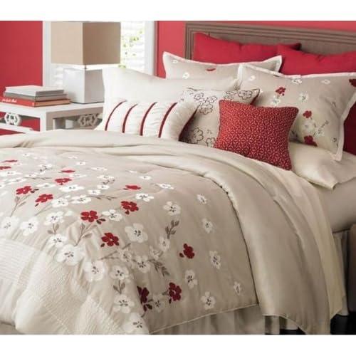 Stunning Martha Stewart Cherry Lane Piece Comforter Set Queen
