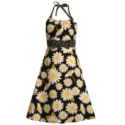 Bonnie Jean Girls Plus Size 125 205 Black White Yellow Daisy