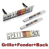 4pcs Sets AM95 RALLIART Front Grille + Fender Side Sticker + Back Sticker Car Emblem Badge For MITSUBISHI LANCER PAJERO OUTLANDER ASX Galant Eclipse Spyder