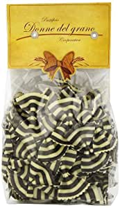 Donne Del Grano Zebra Black and White Bowties(farfalle Magia Bianca) Hand Made Italian Pasta, 250-Grams Packages (Pack of 4)
