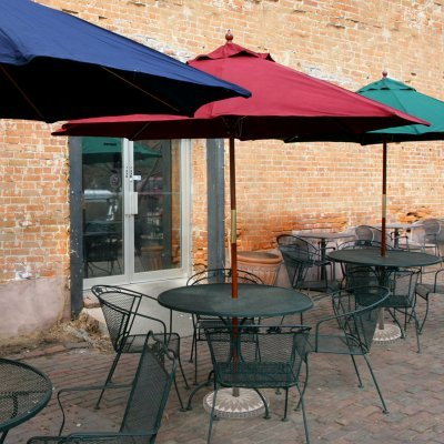 Coral Coast Quick Ship! 9-ft. Wood Commercial Grade Sunbrella Patio Market Umbrella - 231-58