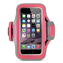 Belkin Slim-Fit Plus Armband for iPhone 6 / 6s, Fitbit Alta, Fitbit Blaze and Fitbit Charge HR (Fuchsia)