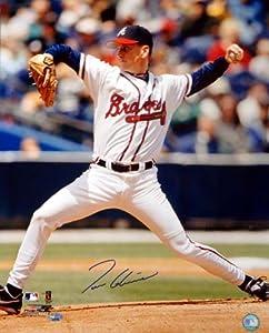 Tom Glavine Autographed 16x20 Atlanta Braves Photo Side View PSA DNA