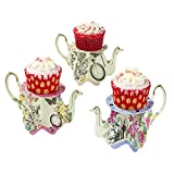 Talking-Tables-TSALICE-TEAPOTS-Truly-Alice-Support--Petit-Gteau-Forme-Thire-Carton-Multicolore-8-x-8-x-8-cm-Lot-de-6
