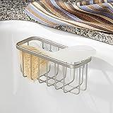 InterDesign Gia Suction Sink Center, Satin