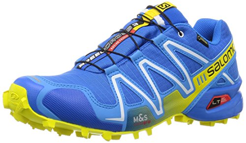 SalomonSpeedcross 3 GTX® - Scarpe da Trail Running Uomo , Blu (Blau (Bright Blue/Process Blue/Gecko Gree)), 42 2/3