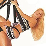 Akstore Fantasy 360 Degree Spinning Hanging Love Sex Leopard Swing Sling Spreader Orgasm Bondage Strap Bedroom Fun Pleasure Sex Toy for Adults Couples Door Swing Portable Adjustable Mobile Straps Fun Toy