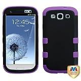 MYBAT SAMSIIIHPCTUFFSO027NP Premium TUFF Case for Samsung Galaxy S3 - 1 Pack - Retail Packaging - Black/Electric Purple