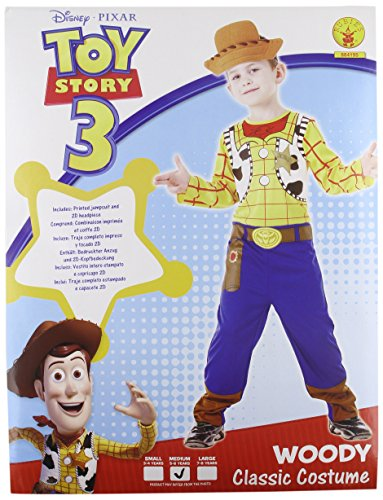 Rubie's Toy Story I-884195M - Costume da travestimento, Woody, taglia M, 5-6 anni