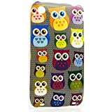 CaseiLike�, A01C3300-Gray, Multi Owl Graphic, Snap-on hard case back cover for Apple iPhone 3 3G 3GS with Screen Protector