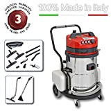 EOLO MOTOR VAPOR LP10 professional/industrial multifunctional cleaning system Vacuuming and Washing with hot water 60° max, provided with n. 11 standard accessories that allow an effective and quick cleaning of any surface