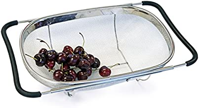 Culina Strainer Over-the-sink (Oval), Stainless Steel Fine Mesh Expandable