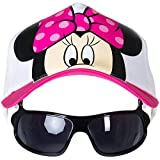 Disney Baby Girls' Big Minnie Hat with Sunglasses - Pink