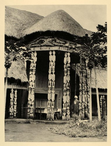 1930 King&#039;s Palace Foumban Architecture Cameroon Africa - Original Photogravure