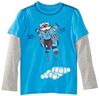 ESPRIT Sweatshirt   Col ras du cou Manches longues Garçon - Bleu - Blau (434 STRONG BLUE) - FR : 6 ans (Taille fabricant : 116/122)