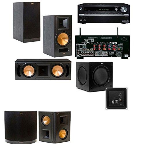 Klipsch Rb-81Ii 5.1 Home Theater System-Onkyo Tx-Nr838 7.2 Channel- Black