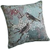 Brentwood 18-Inch Bird Tapestry Pillow Blue Bird