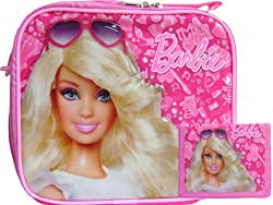Girls Barbie Lunch Box and Tri-fold Wallet