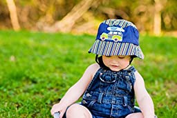 Jamie Rae Hats- Navy Blue Boy Hat with Navy Blue Woody, Size: 12-2t
