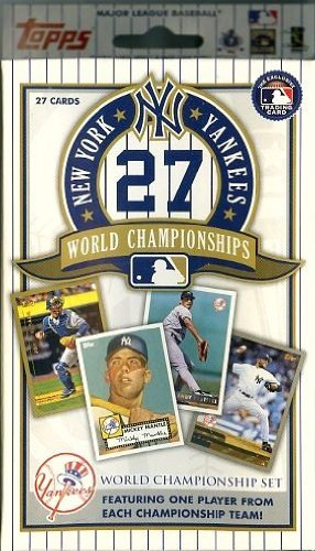 Topps New York Yankees 27 Time World Championship Factory Sealed Complete Box Set with 1952 Mickey Mantle,Babe Ruth,Derek Jeter and More