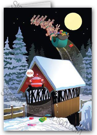 Low Bridge Christmas Card - funny 12 cards/ 13