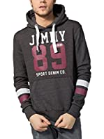 Jimmy Sanders Sudadera con Capucha (Gris Oscuro)