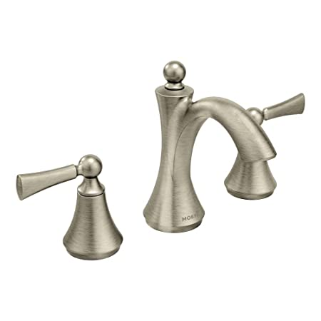 Moen T4520BN  Wynford Two-Handle High Arc Bathroom Faucet, Brushed Nickel