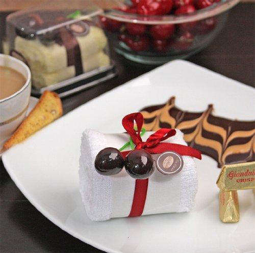 Baby Keepsake: White roll cake towel