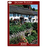 Toyrific 1000pc Cottage Jigsaw Puzzle Rainy Day Games Children Adults Ellderly (Cottage with Flowery Headgerow)