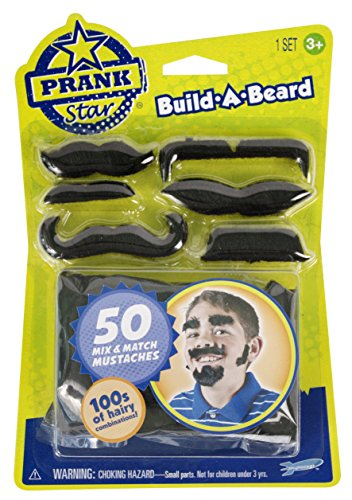 Prank Star Build-A-Beard, Mix and Match, Assorted Styles - 1