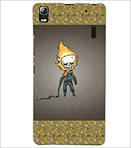 PrintDhaba Funny Image D-4627 Back Case Cover for LENOVO A7000 PLUS (Multi-Coloured)