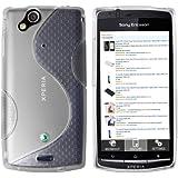 Mumbi - Carcasa de silicona y TPU para Sony Ericsson Xperia Arc y Arc S, transparente