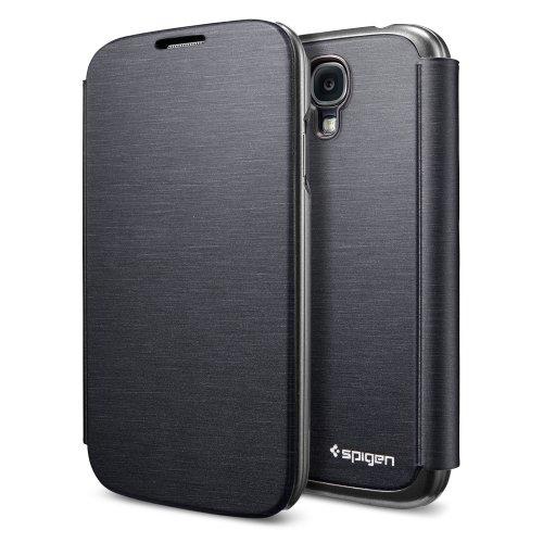 国内正規品SPIGEN SGP Galaxy S4 ケース ウルトラ フリップ [メタリック・ブラック]SGP10268