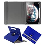 ECellStreet Rotating 360° Degree PU Leather Flip Stand 8 Inch Flip Diary Folio Case - Dark Blue For Lenovo A8-...